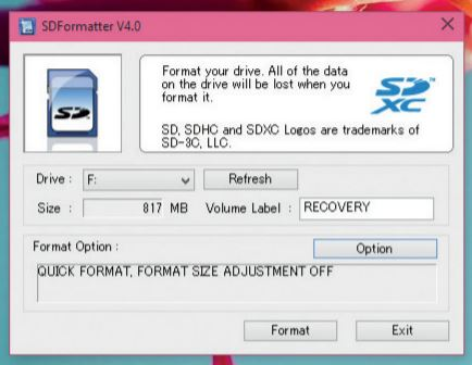 sdFormater